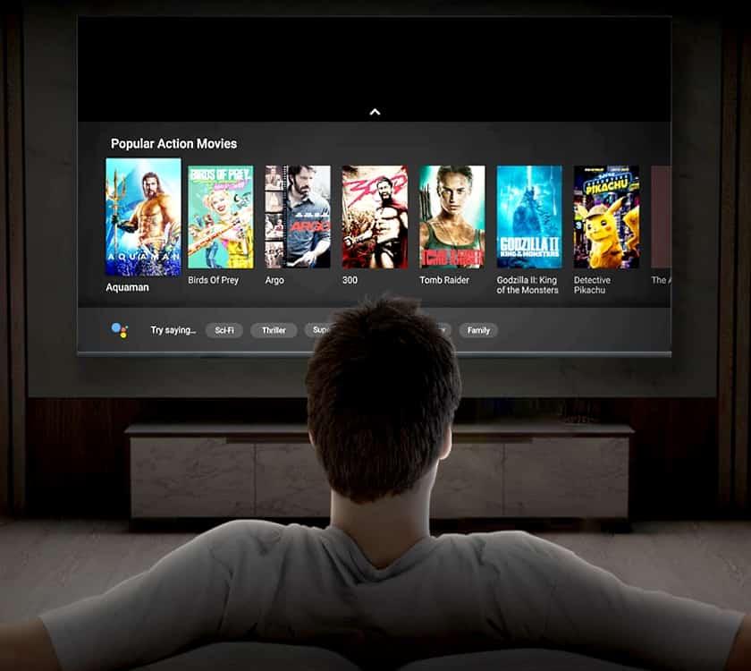 Sistema operativo Android TV 10 del Xiaomi Mi TV Q1 75
