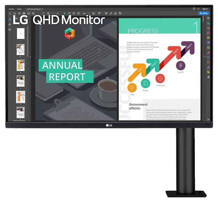 LG 27QN880-B Monitor QHD Ergo
