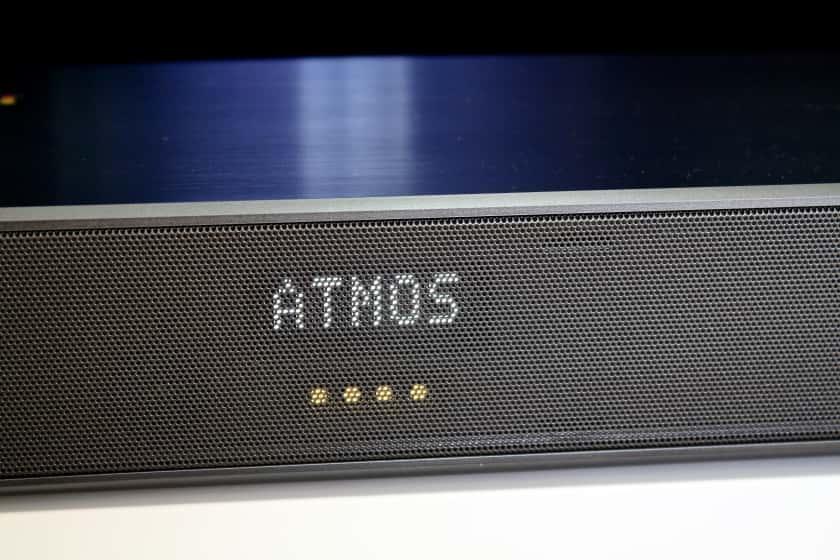 Sonido Dolby Atmos mostrado en pantalla SL8YG de LG