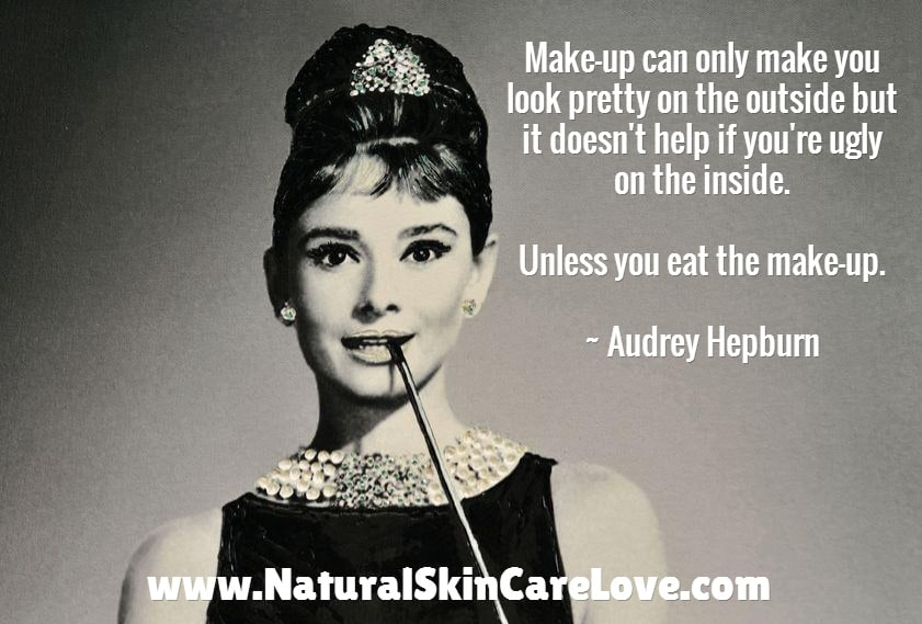 Inner beauty has nothing to do with make up