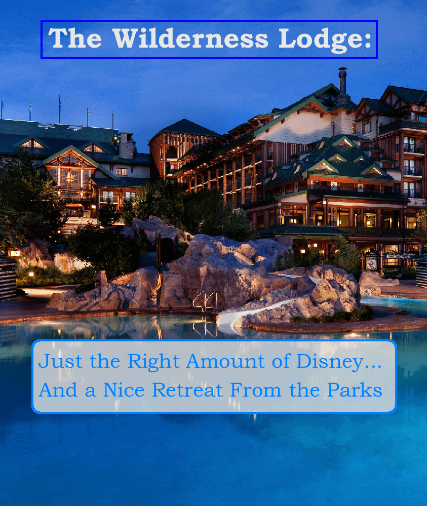Disney's wilderness lodge offers a nice retreat from the busy parks with just the right amount of the mouse thrown in.