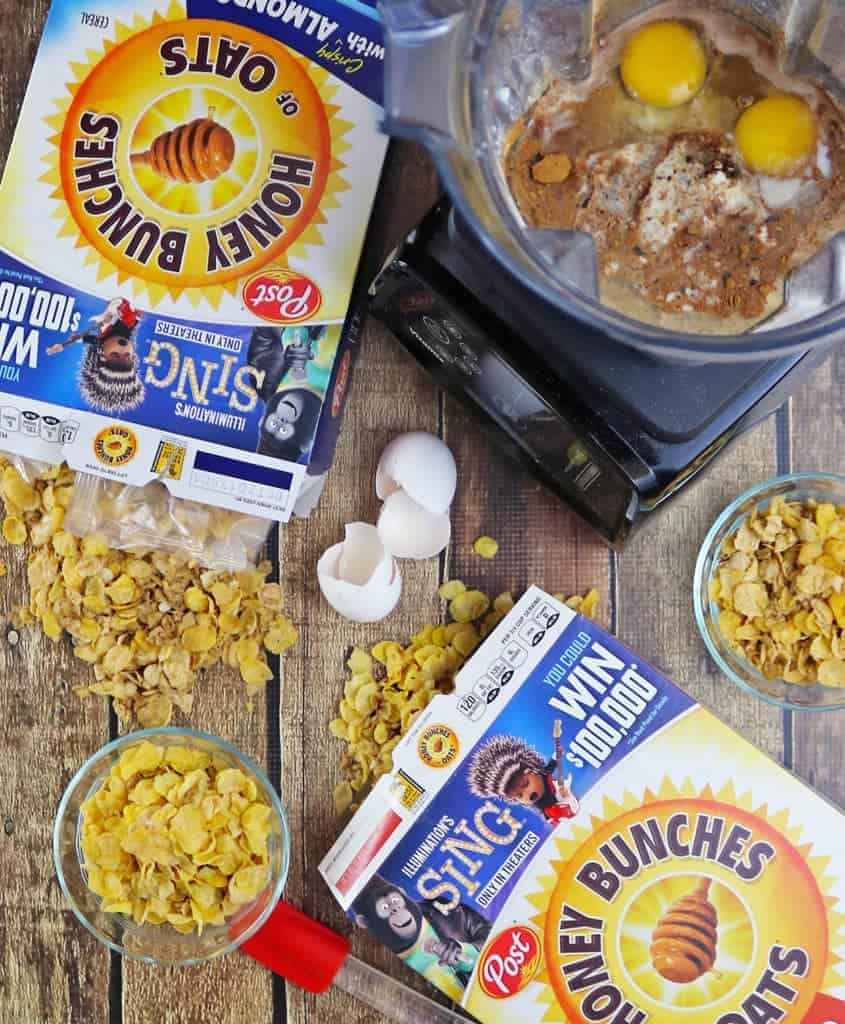 Honey Almond Cereal Muffins with Post Honey Bunches of Oats
