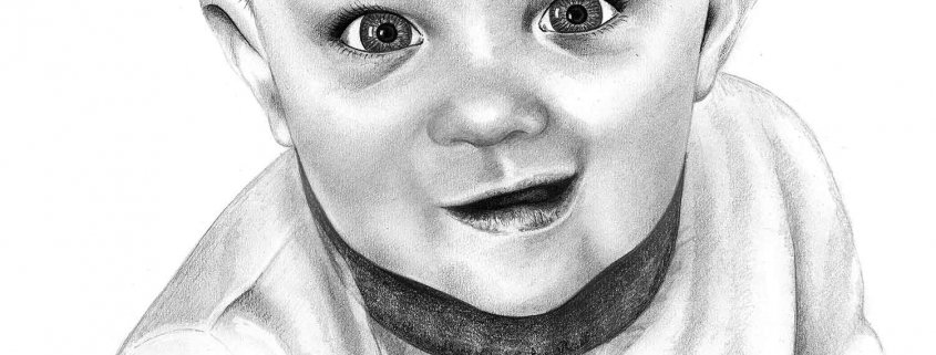 Pencil Drawing of Baby Boy