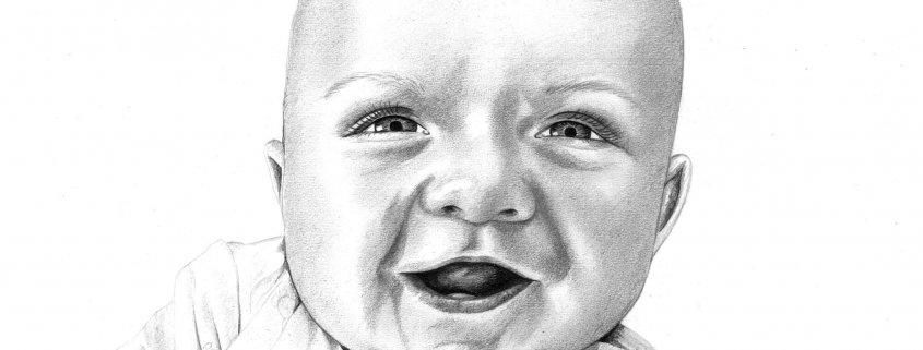 Pencil Portrait of Baby