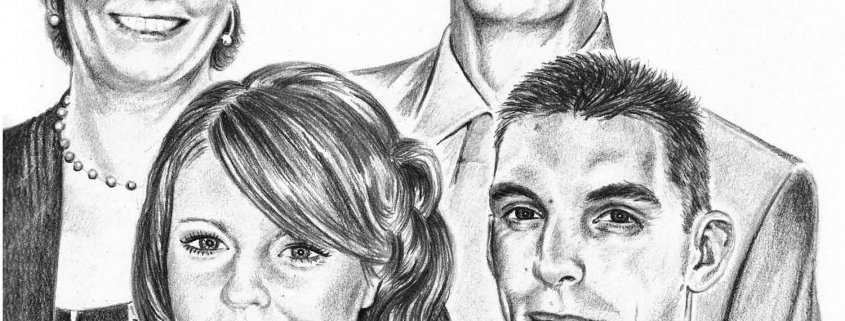 Portrait Drawing of Family