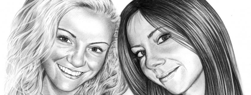 Pencil Drawing of Friends