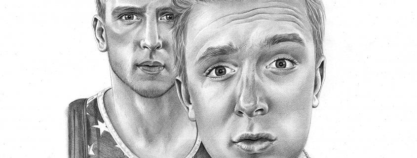 Pencil Drawing of Two Friends