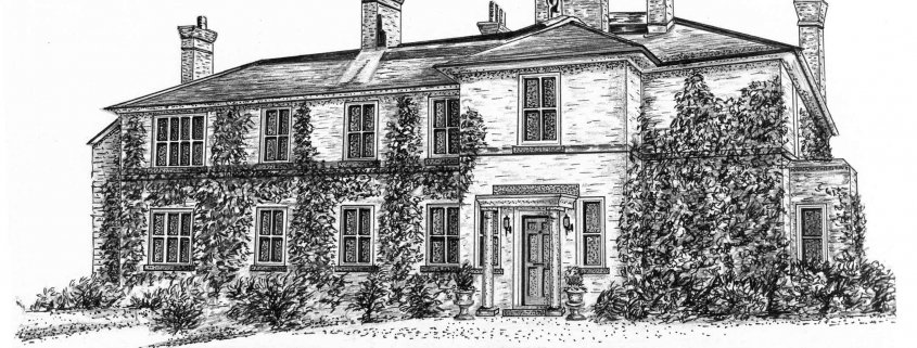 Pencil Drawing of House