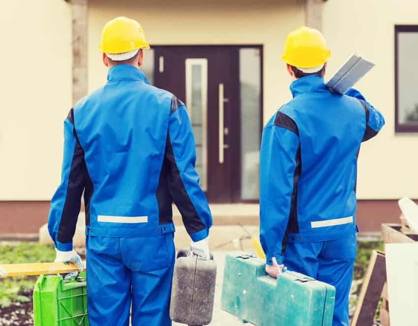 Contractors Arriving for Home Repairs
