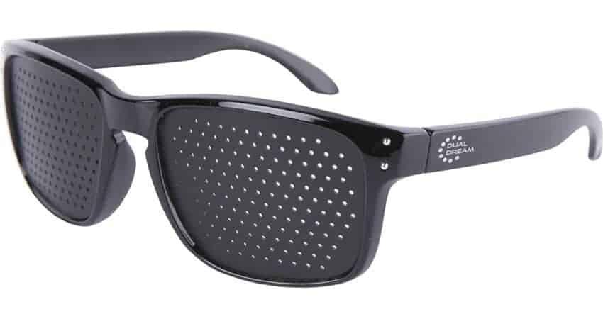 Occhiali stenopeici Modern black Dual Dream © occhiali Bates vendita diretta