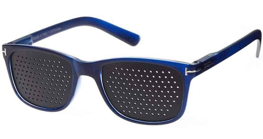 Occhiali stenopeici Flex blue Dual Dream © misura piccola - riposo computer