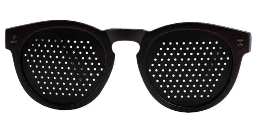 Occhiali stenopeici trend Ebano Dual Dream Dispositivo medico fiscalmente detraibile fronte
