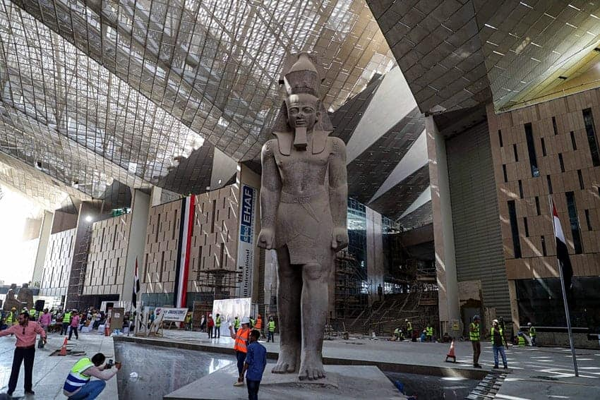 A new art museum in Egypt opening in 2021.