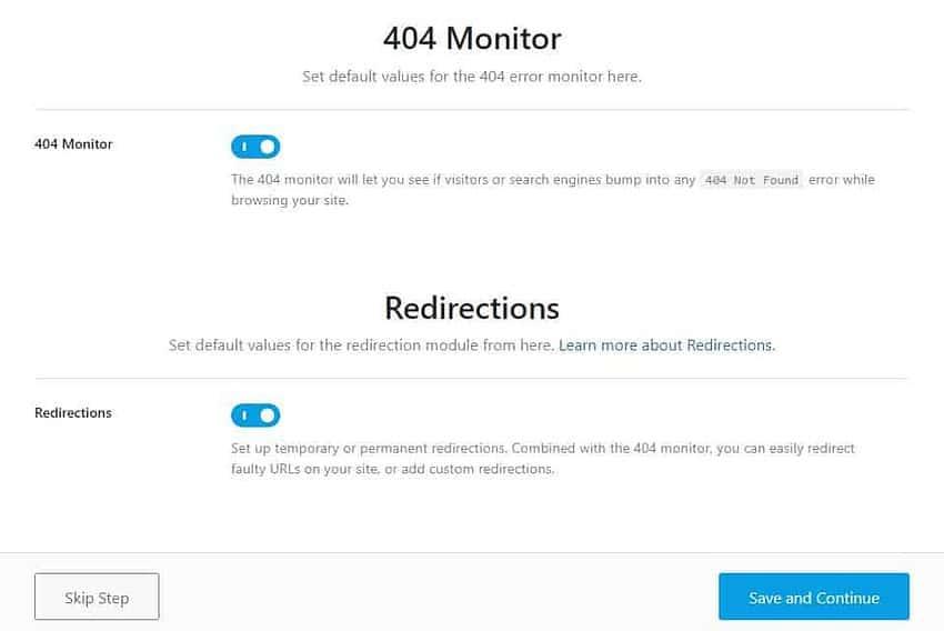 Rank Math 插件设置 404监控