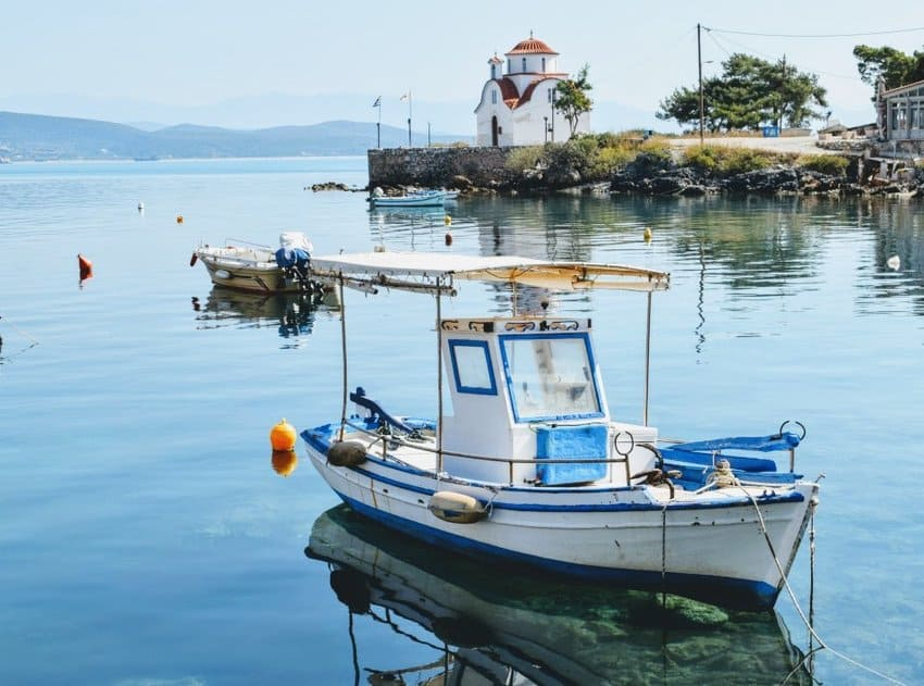 Gythio Greek Fishing harbour