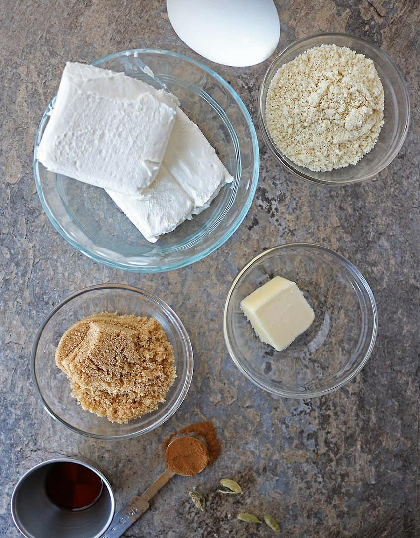 Ingredients To Make Easy Air Fryer Cheesecake