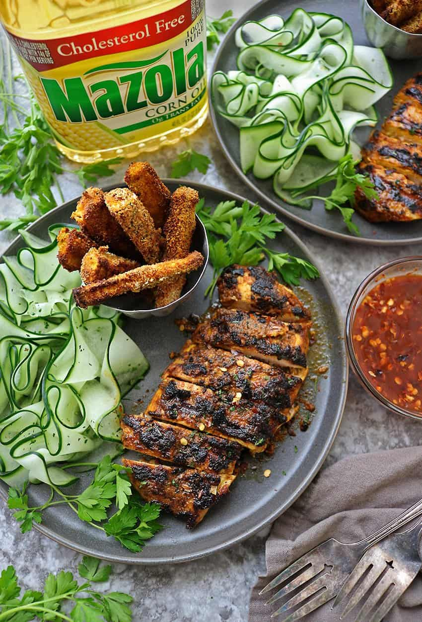 Quick and Easy Grilled Curry Chicken Dinner Recipe