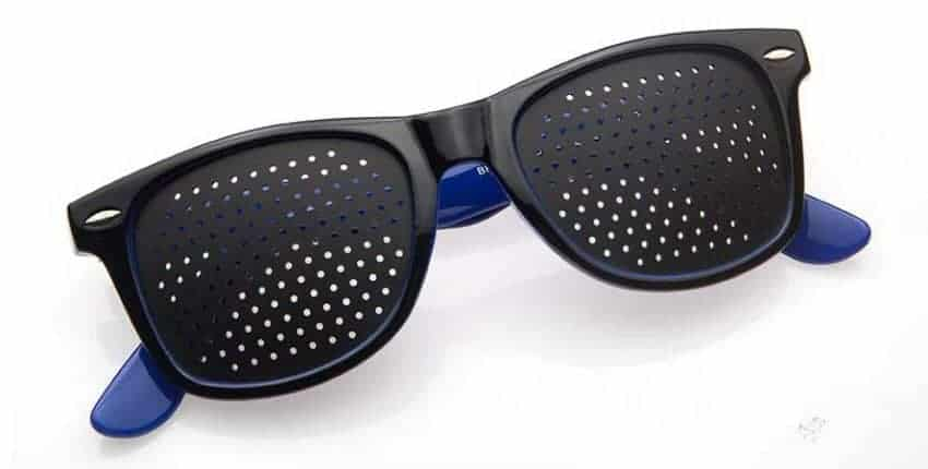 Occhiali stenopeici Classic blue Dual Dream ® Dispositivo medico CE classe 1 per allenamento e rilassamento visivo