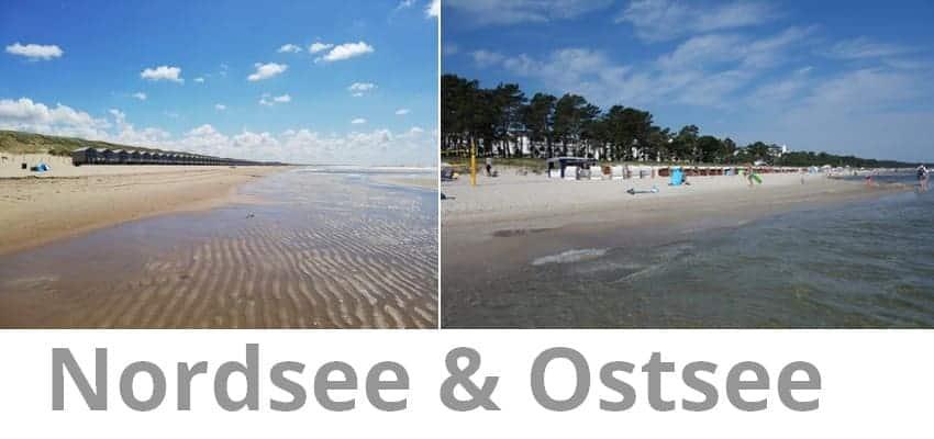 Nordsee in den Niederlanden vs. Ostsee in Binz auf Rügen