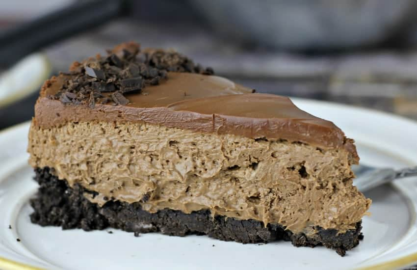 "Easy No Bake ""Death By Chocolate"" Cheesecake"