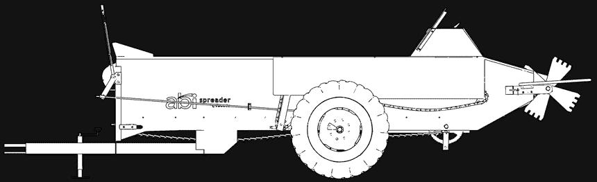 Ground Driven Manure Spreader, 85 cu ft