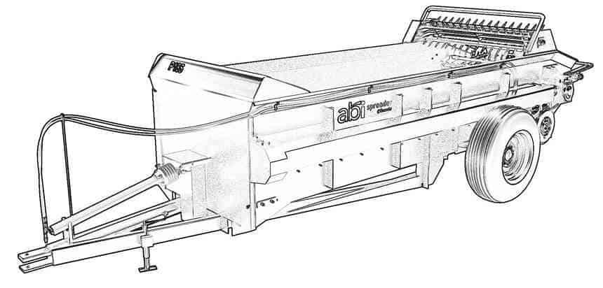 PTO Manure Spreader, 185 cu ft – Manure Spreaders
