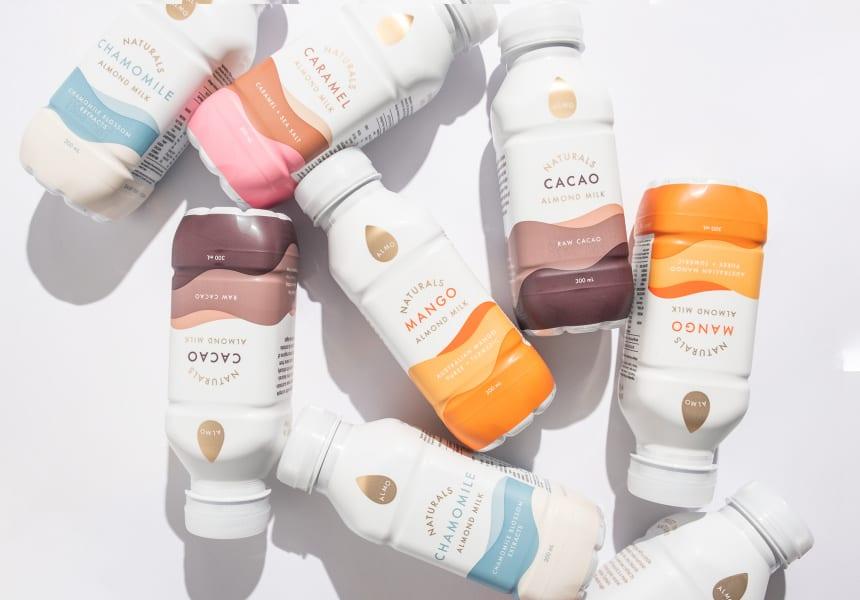 Almo Milk's Bottles Flatlay