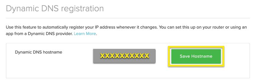 """Enter a hostname and click """"Save Hostname""""."""