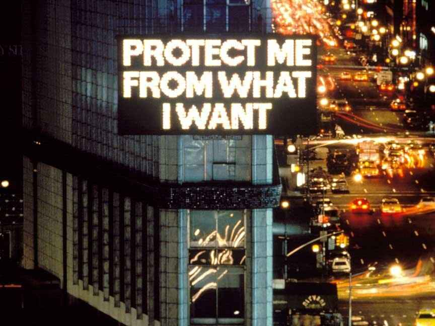 Jenny Holzer, Billboard Display 1985, Times Square, NYC