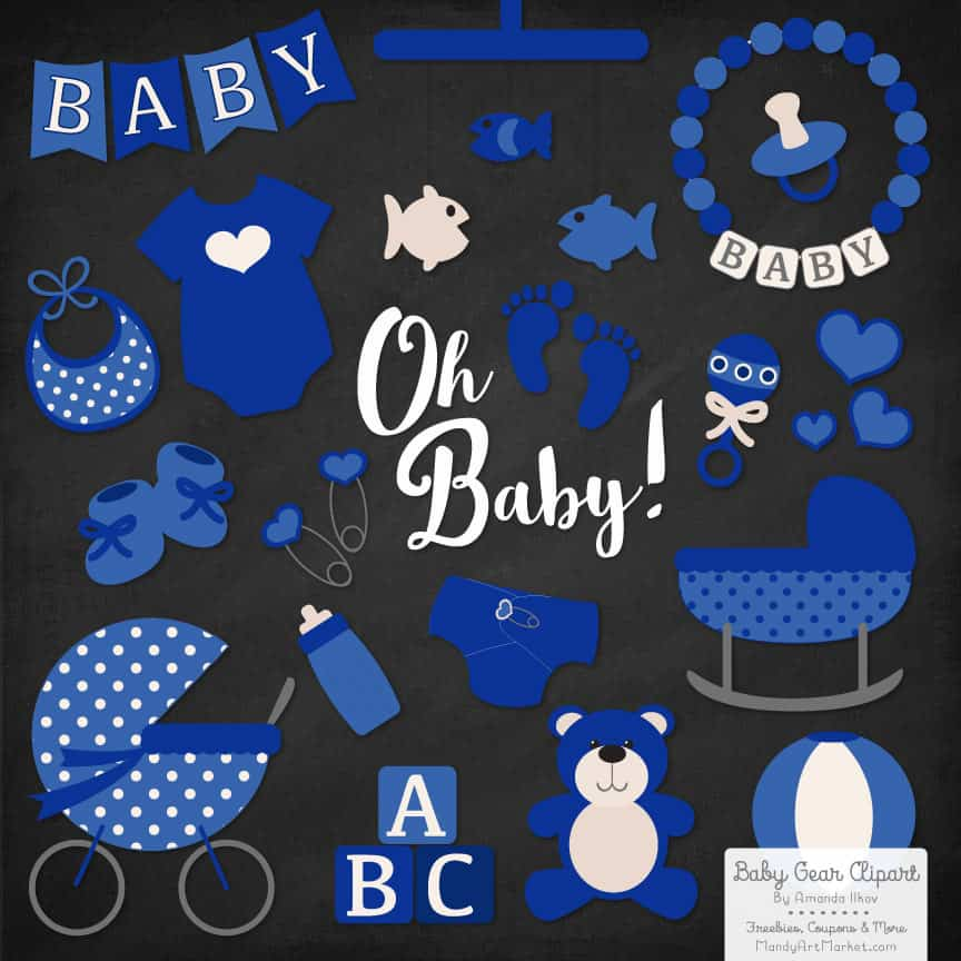Royal Blue Baby Clipart