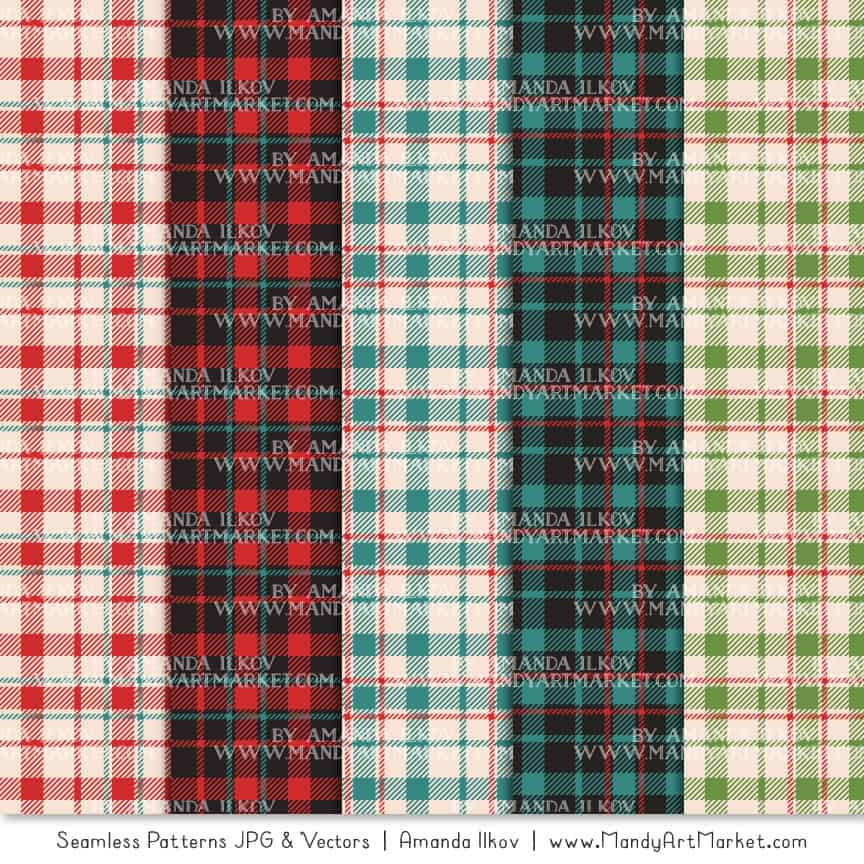 Cherry Bomb Cozy Plaid Patterns