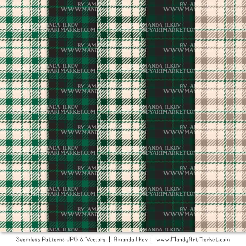 Emerald Cozy Plaid Patterns
