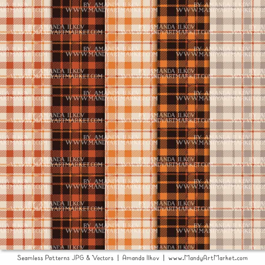 Pumpkin Cozy Plaid Patterns