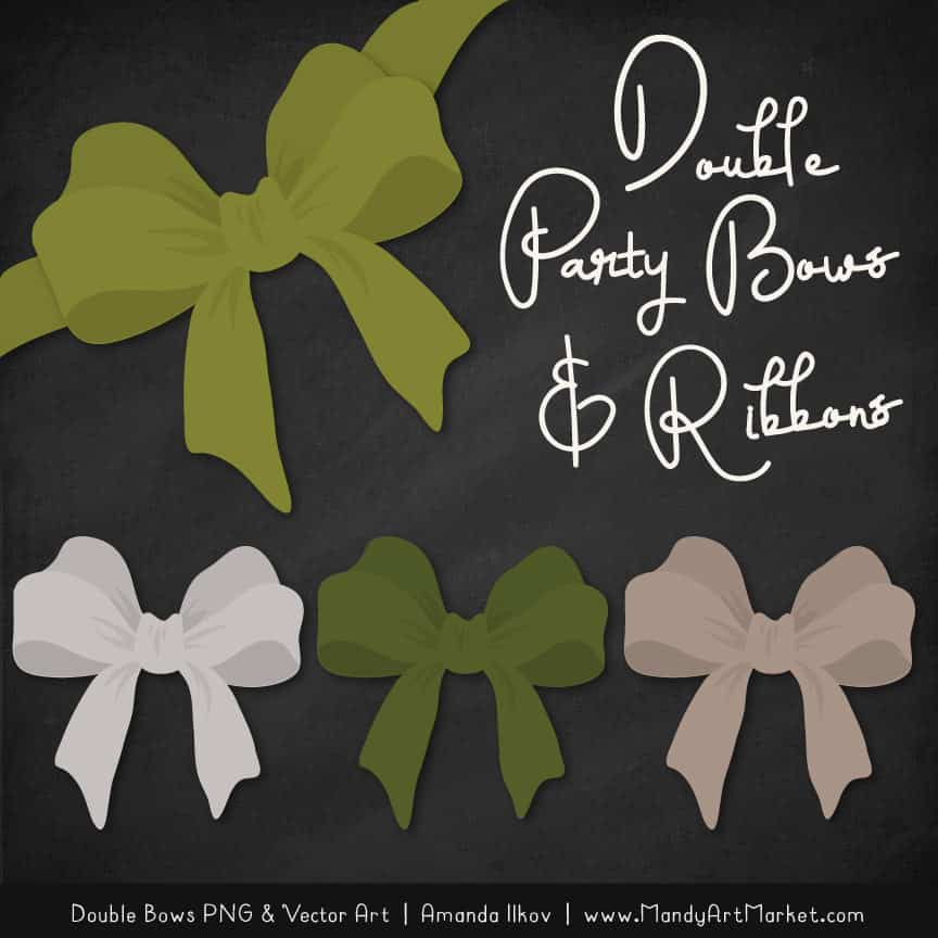 Free Avocado Party Bow Clipart