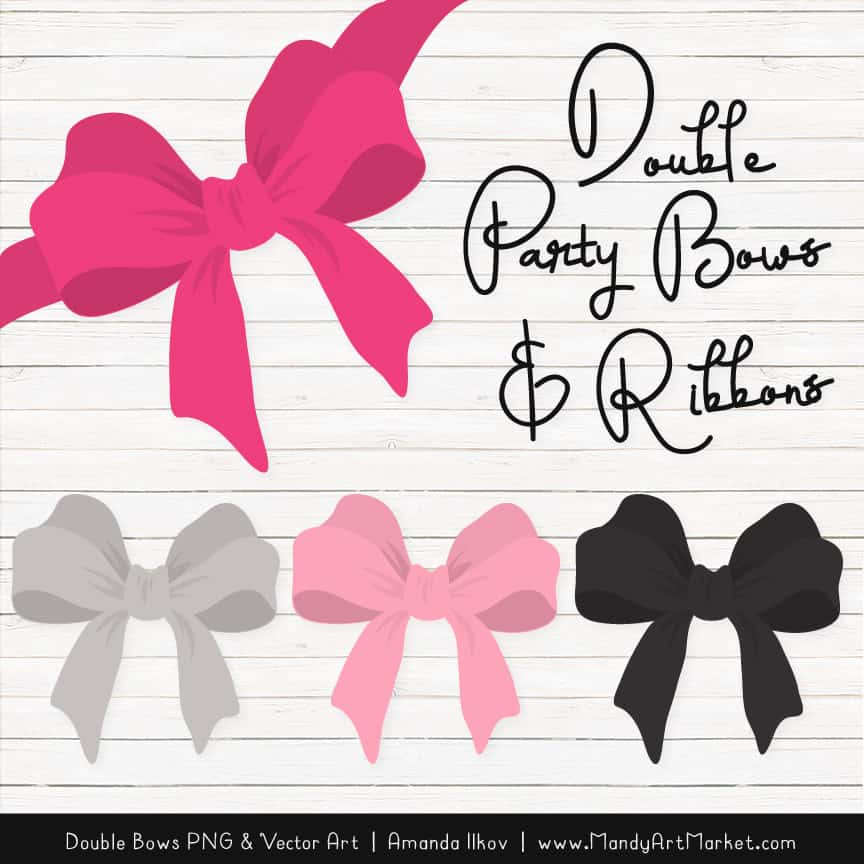 Free Hot Pink Party Bow Clipart