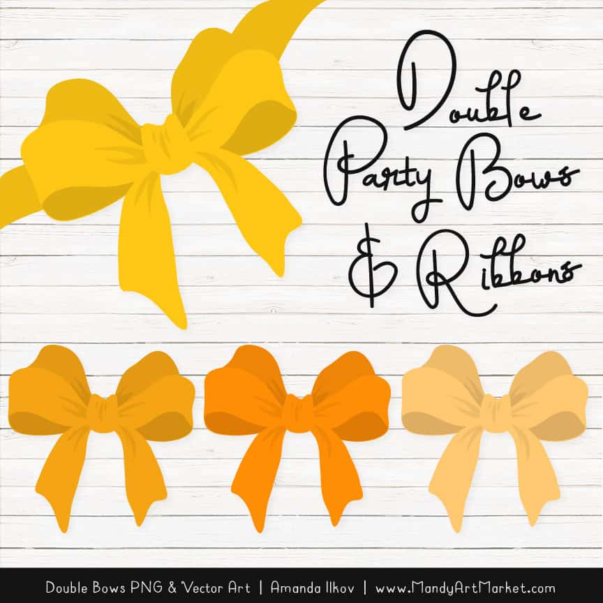Free Yellow Party Bow Clipart