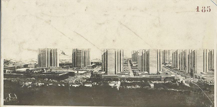 Le Corbusier, Plan Voisin, 1925. utopian architecture