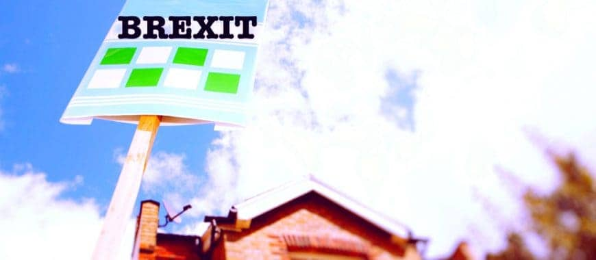 brexit sign outside house