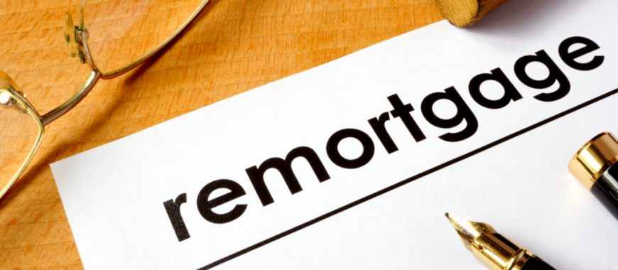 remortgage text on document