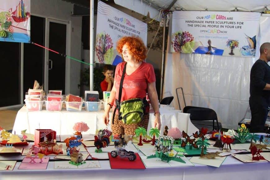 "#ElPortalArtfair Artist's Testimonial: Julie Brumlik ""Open Card Now"""