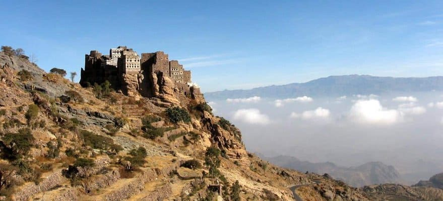 A monastery in the mountains of Yemen