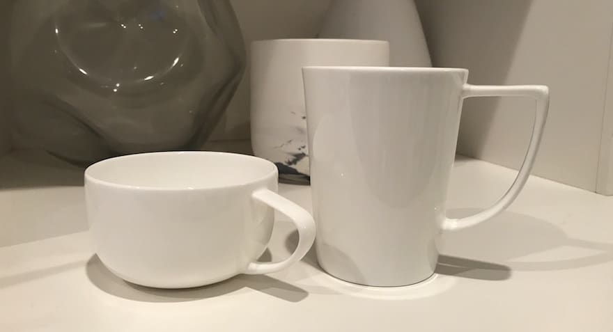 European and American coffee cups are different sizes