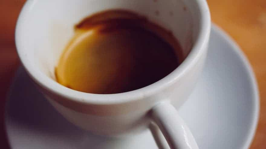 Espresso in a white ceramic cup