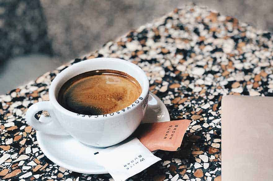 Short Americano coffee