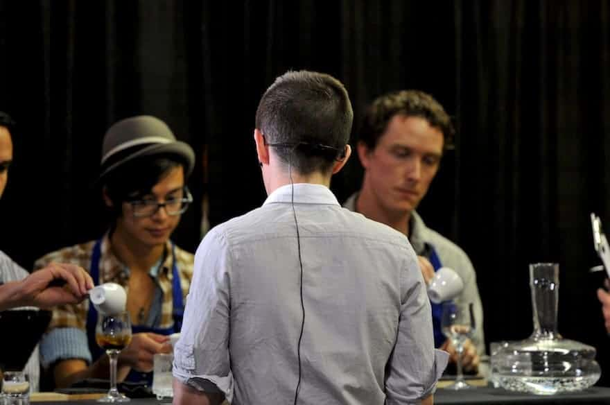 Judges at a barista competition