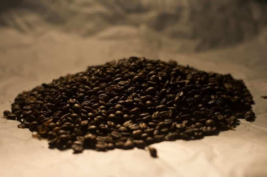 French roast coffee beans