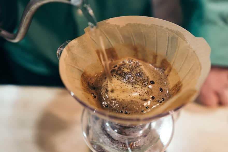 Brewing pour-over coffee