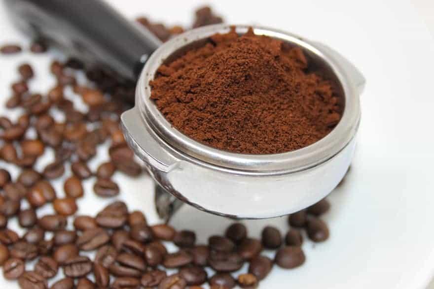 ground espresso beans