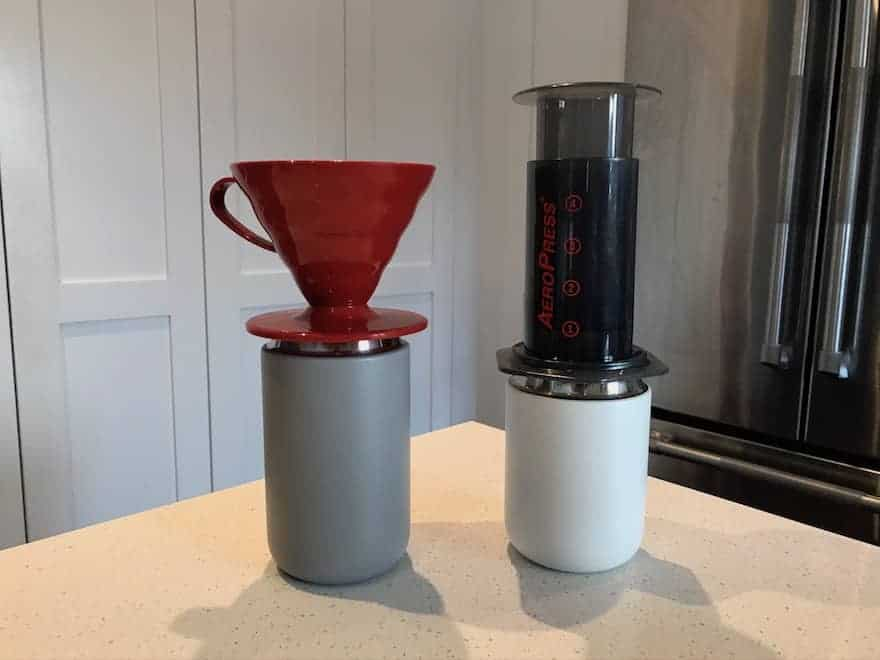 Carter Everywhere Mugs with Hario V60 and AeroPress