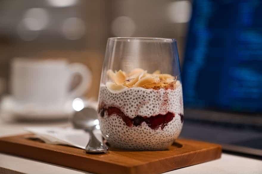 Tapioca pudding in a glass